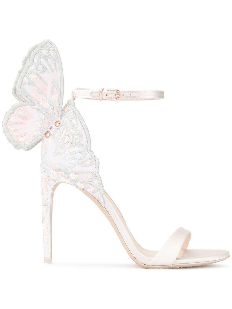 aabb235294b Lyst - Sophia Webster Embroidered Butterfly Detail Sandals in Pink