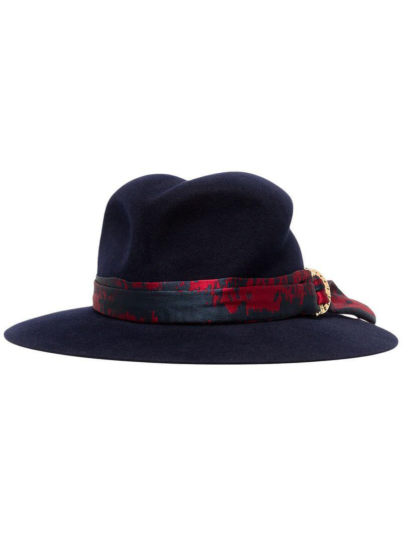 93614f2afd0 Lyst - Maison Michel Blue Yoshiko Jacquard Rabbit Fur Hat in Blue