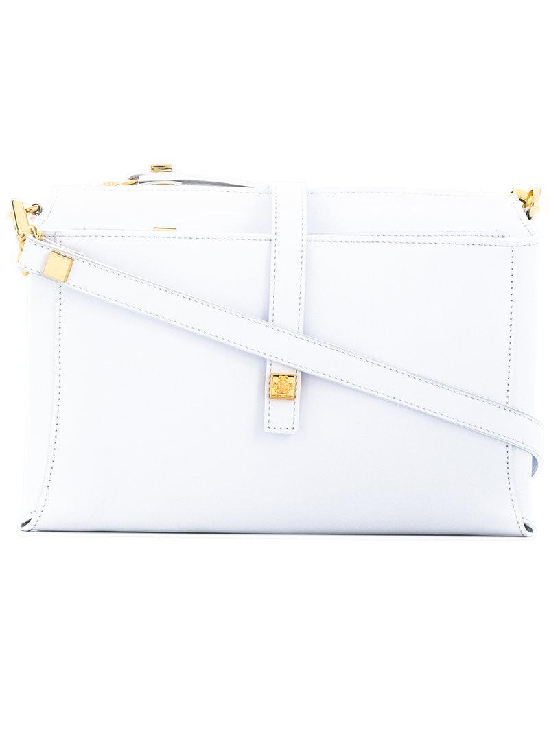 b73435dc1ab3 Lyst - Giancarlo Petriglia Multi Compartment Shoulder Bag in White