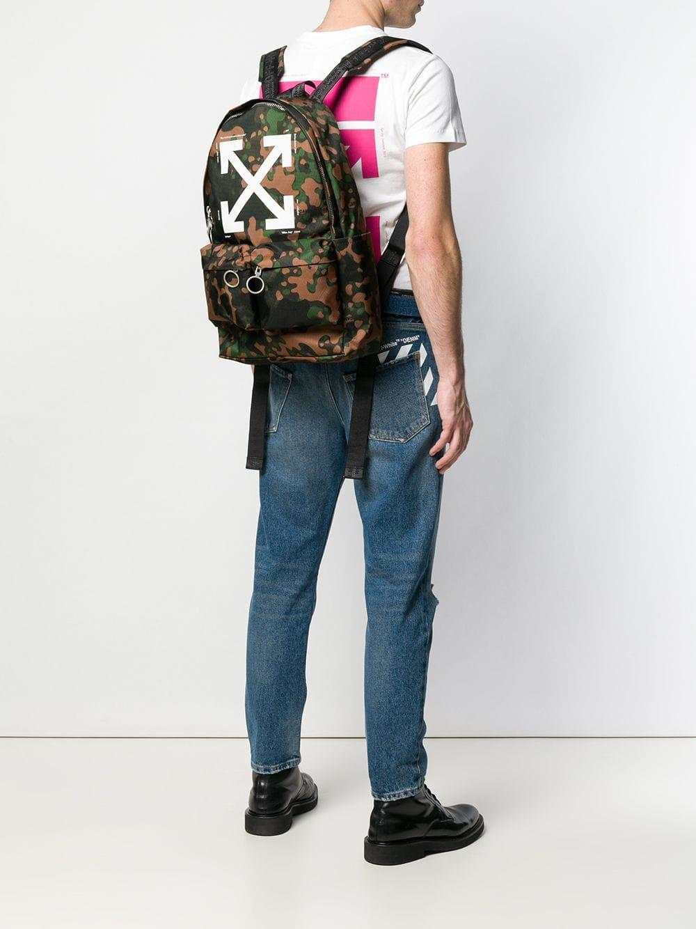 ff8f925a65bf Lyst - Off-White c/o Virgil Abloh Camouflage Arrow Backpack in Green for Men  - Save 27%