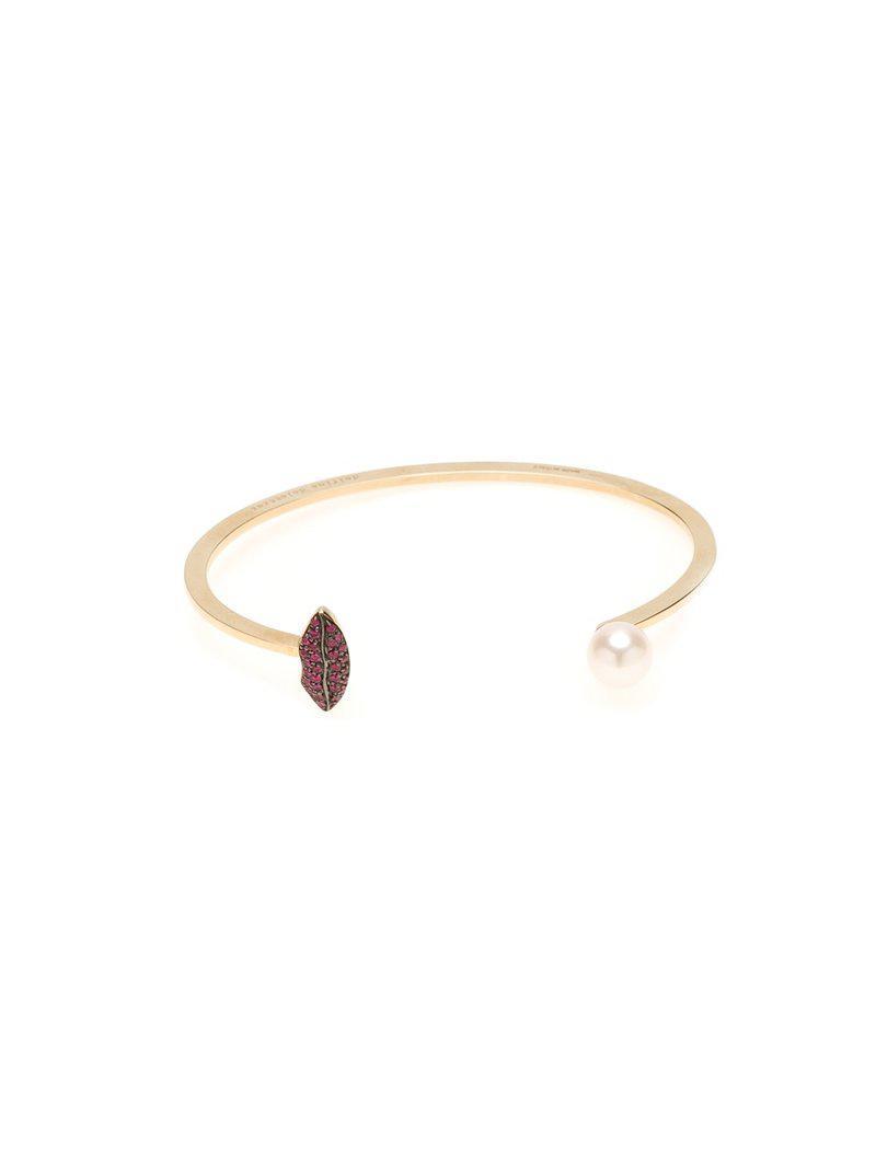 Delfina Delettrez Eye piercing diamond and sapphire bangle - Metallic YSTZuhG