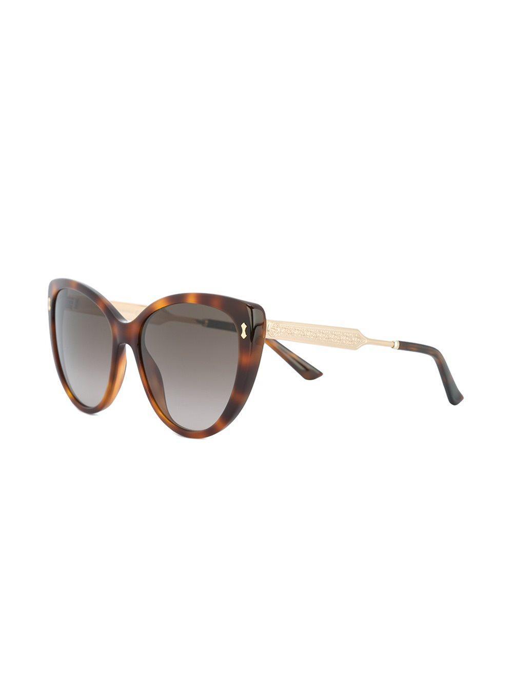 42d43219a84 Gucci - Brown Butterfly Frame Sunglasses - Lyst. View fullscreen