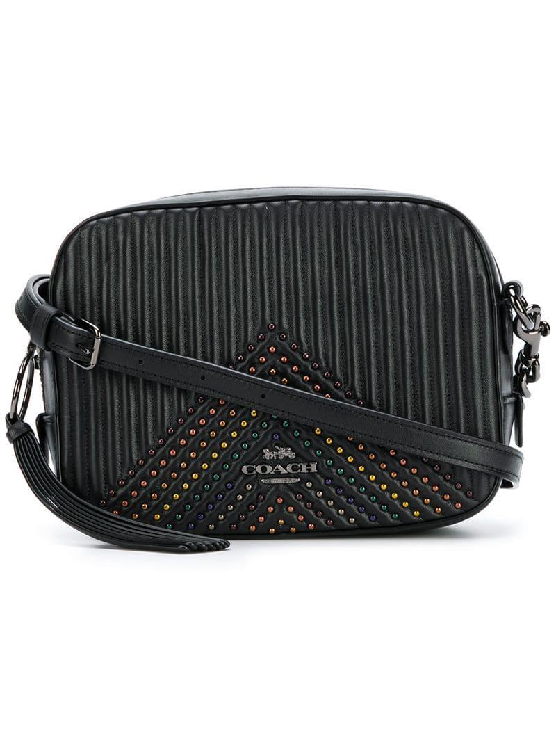 ca1a2d4ea6 Lyst - COACH Quilted Camera Bag in Black