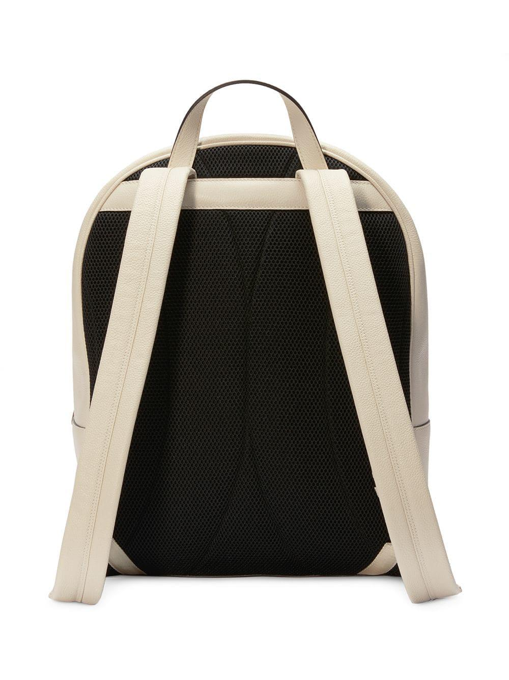 9d218769b4be Lyst - Gucci Print Leather Backpack in White