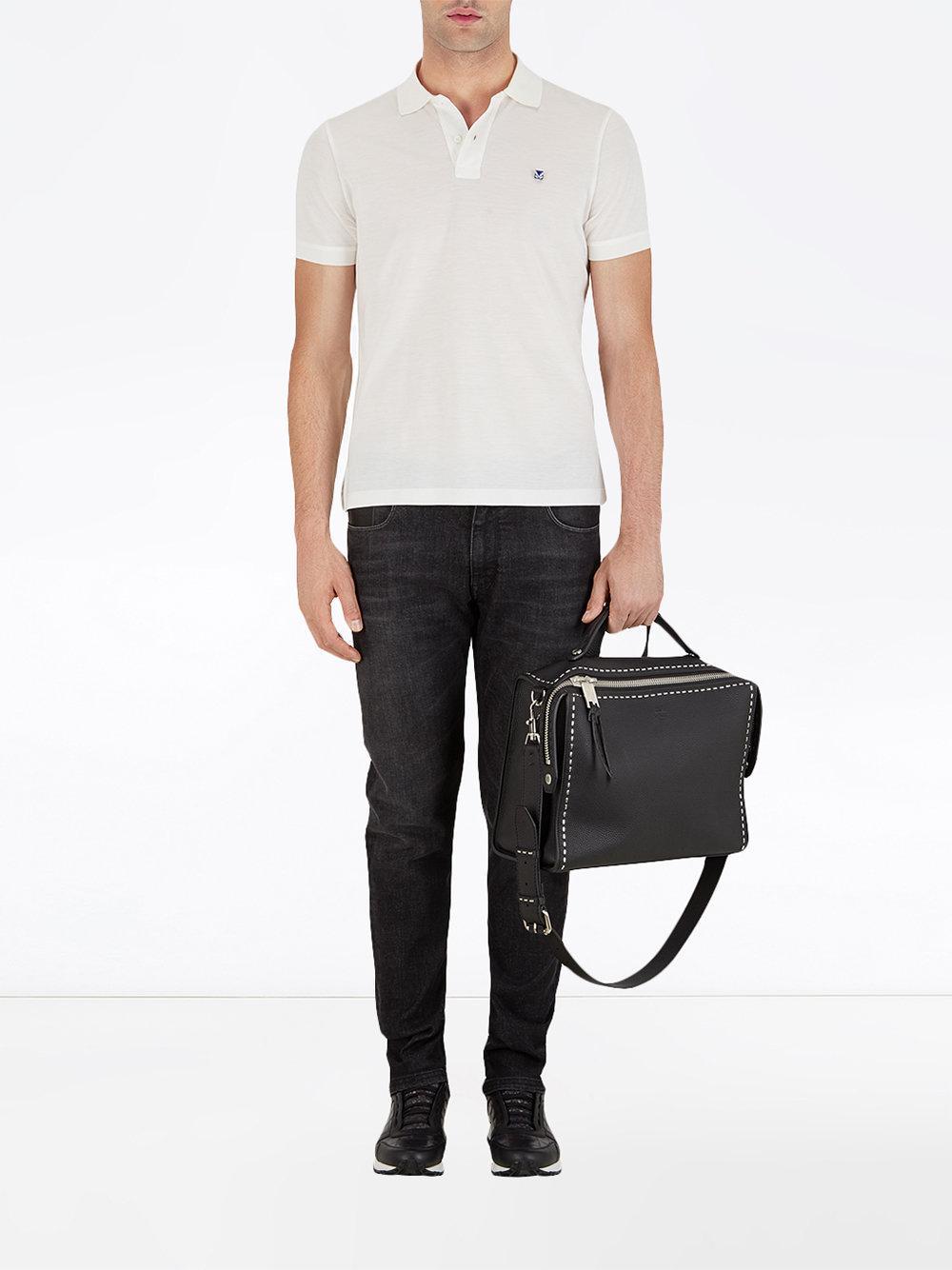 Lyst - Sac Peekaboo à détail de couture Fendi pour homme en coloris Noir dfeb10582b8