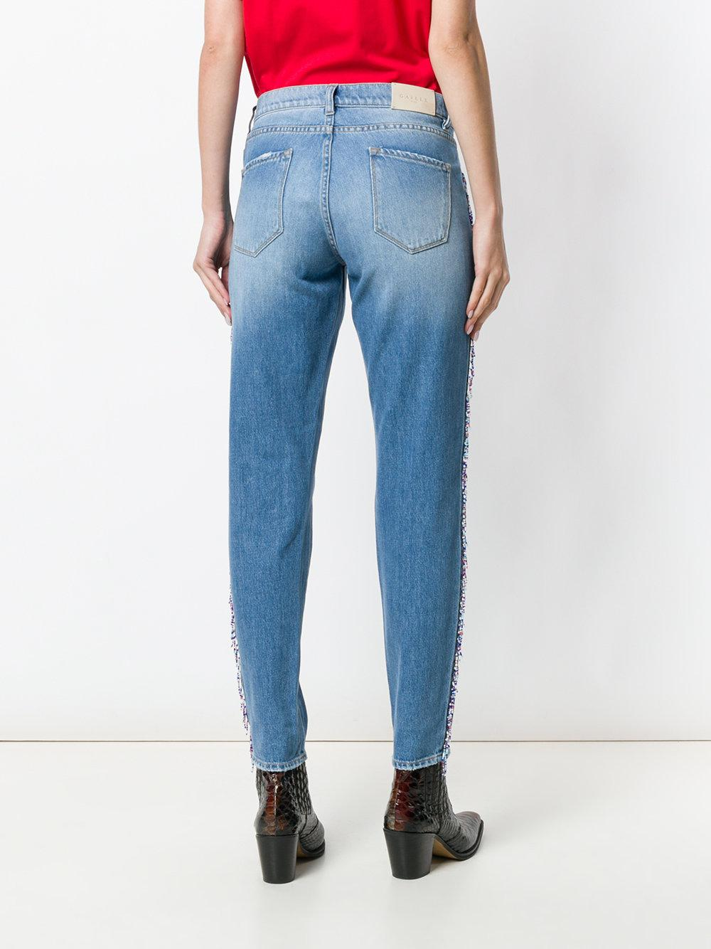 beaded stripe jeans - Blue Ga?lle Paris wYNAkjVPF