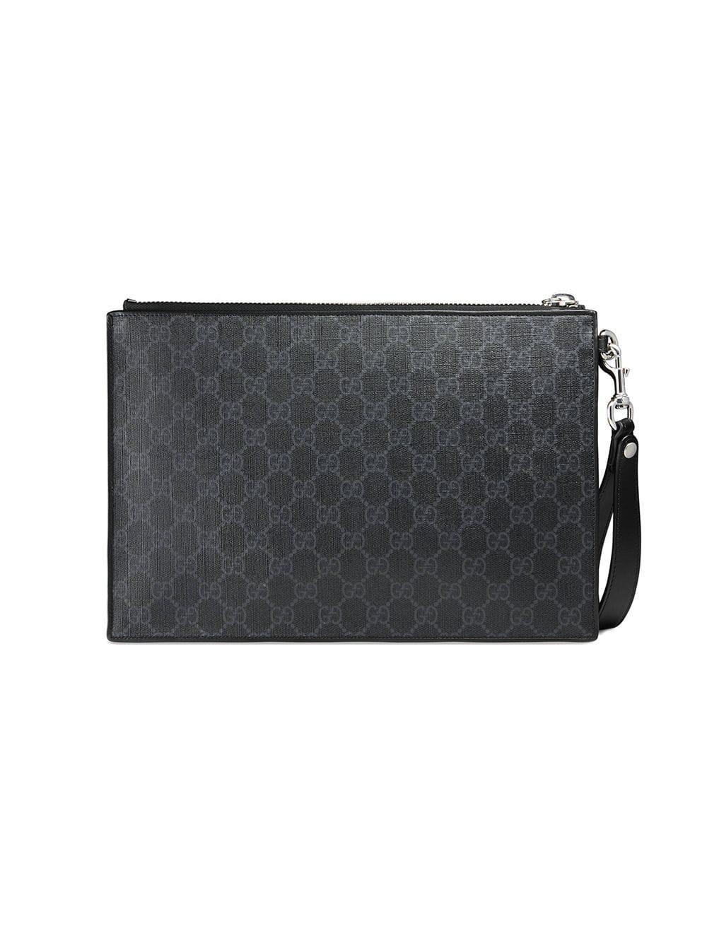 b5fde2aaa461f1 Gucci - Black Night Courrier GG Supreme Pouch for Men - Lyst. View  fullscreen