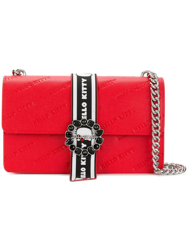 6073e14576eb Pinko Love Hello Kitty Shoulder Bag in Red - Lyst