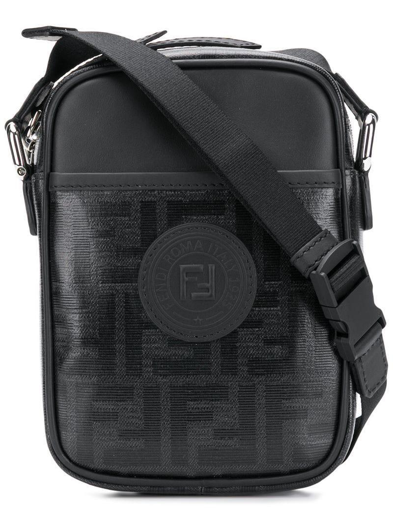 a5237e54ae78 Lyst - Fendi Small Ff Messenger Bag in Black for Men