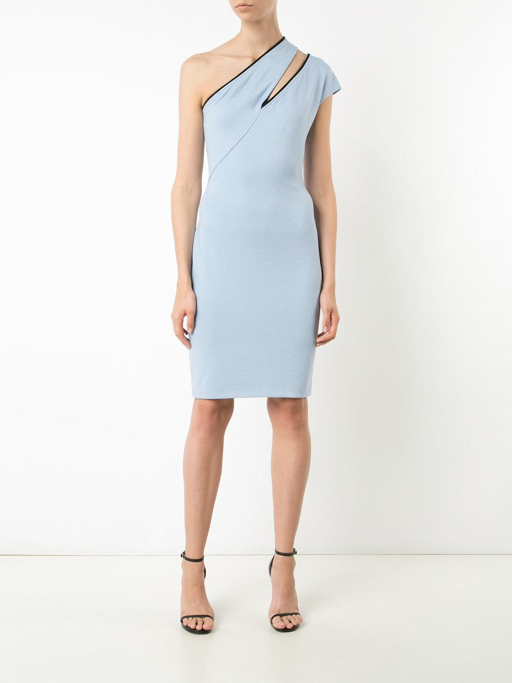 Outlet Best Place cut out one-shoulder dress - Blue MUGLER High Quality Cheap Online Clearance Visa Payment Cheap 100% Authentic Cost Online 6dV9MQqpF1