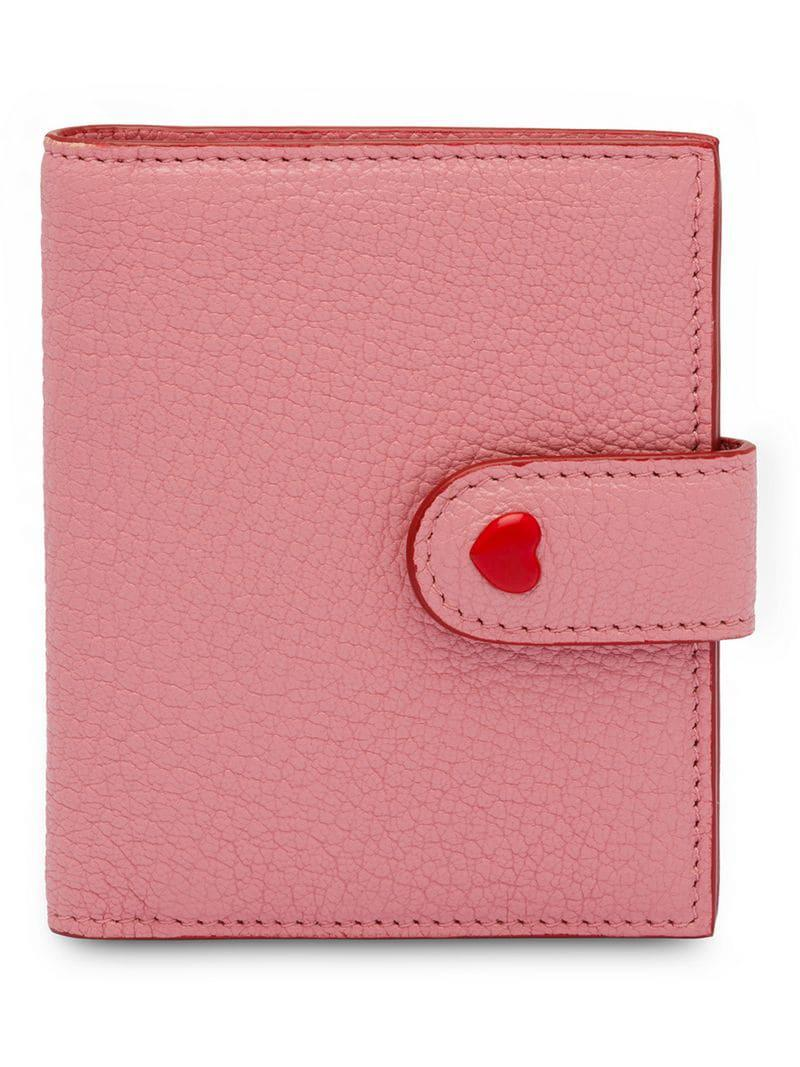 65ee966f9e04 Lyst - Miu Miu Madras Leather Wallet in Pink