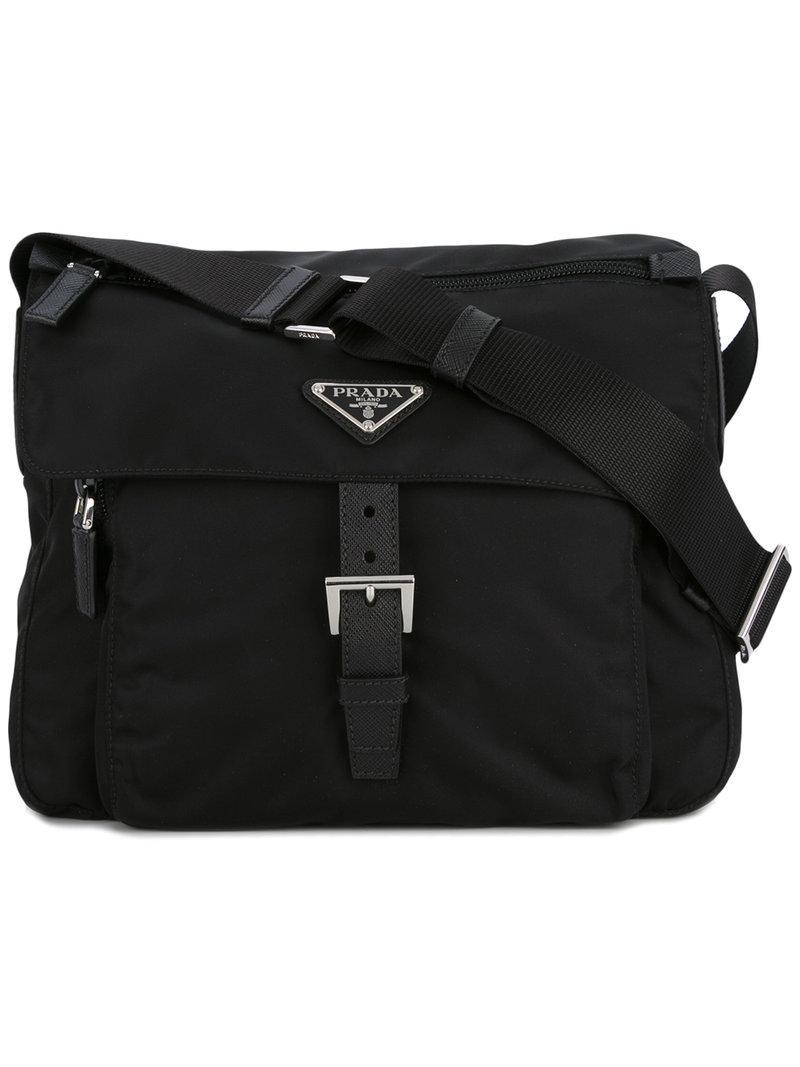 e4f070442c46 Prada - Logo Plaque Cross Body Bag - Women - Nylon - One Size in ...