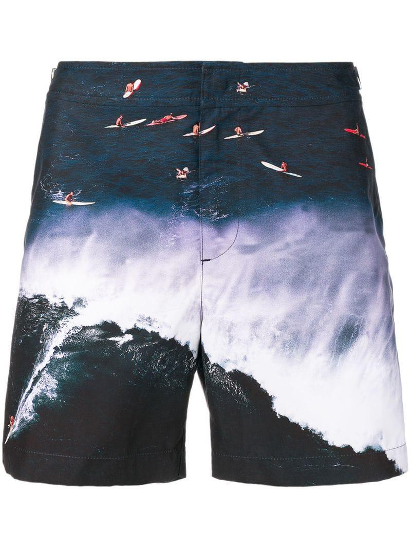 92b91b9f77 Orlebar Brown Printed Swim Shorts in Blue for Men - Lyst
