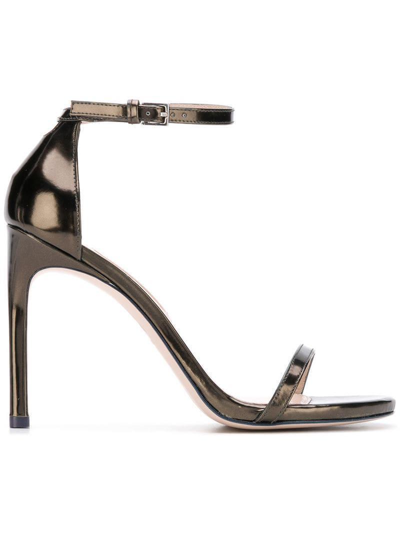 c0e24c8e2a8 Lyst - Stuart Weitzman Strap Sandals in Metallic