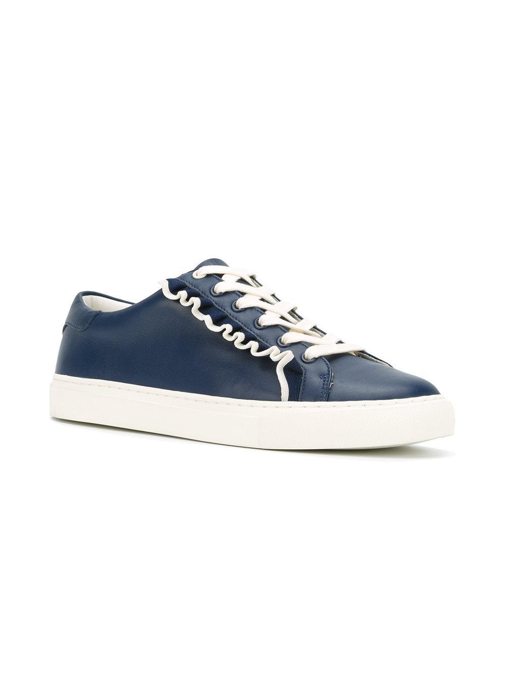 Tory Burch Jabot Garniture Chaussures De Sport - Bleu nqsRVjtCtC
