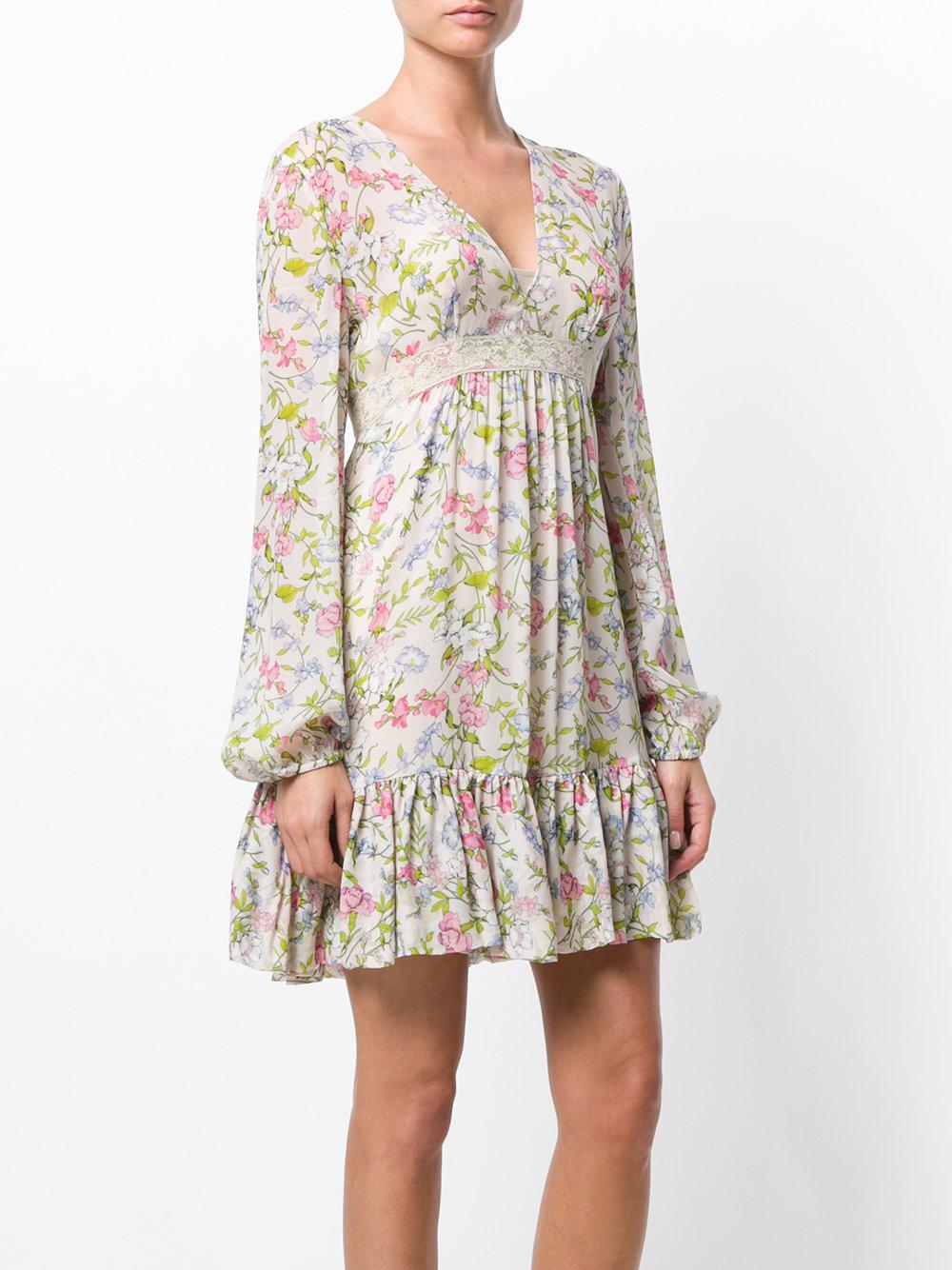 floral flared dress - Nude & Neutrals Twin-Set Amazing Price Cheap Price Choice For Sale Discount Shop Wholesale Online 2urfXYXuj1