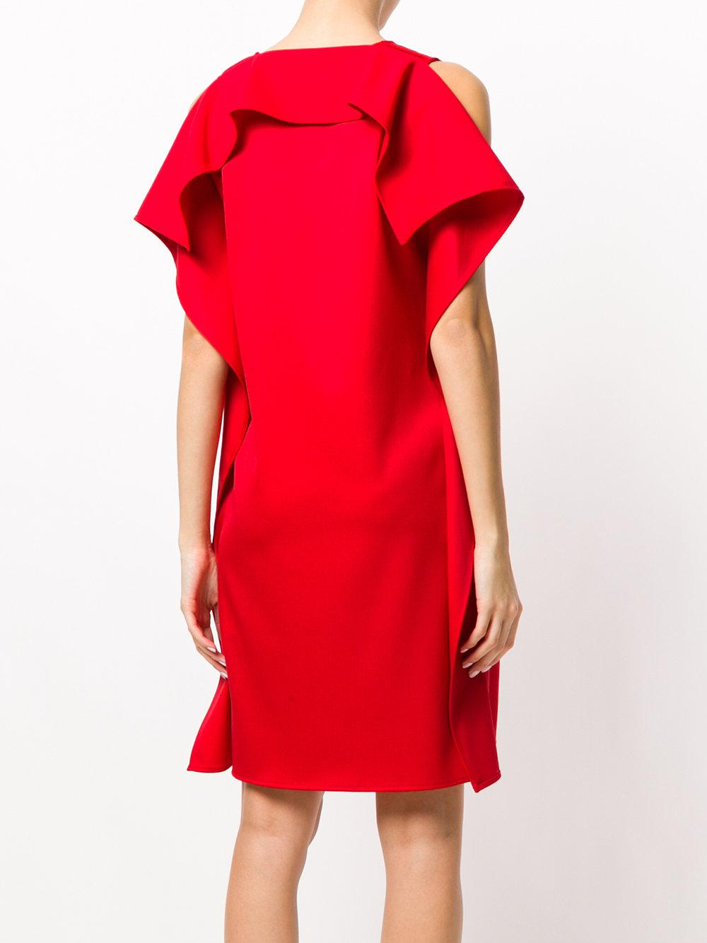 ruffle shift dress - Red Maison Martin Margiela bfjvmS5