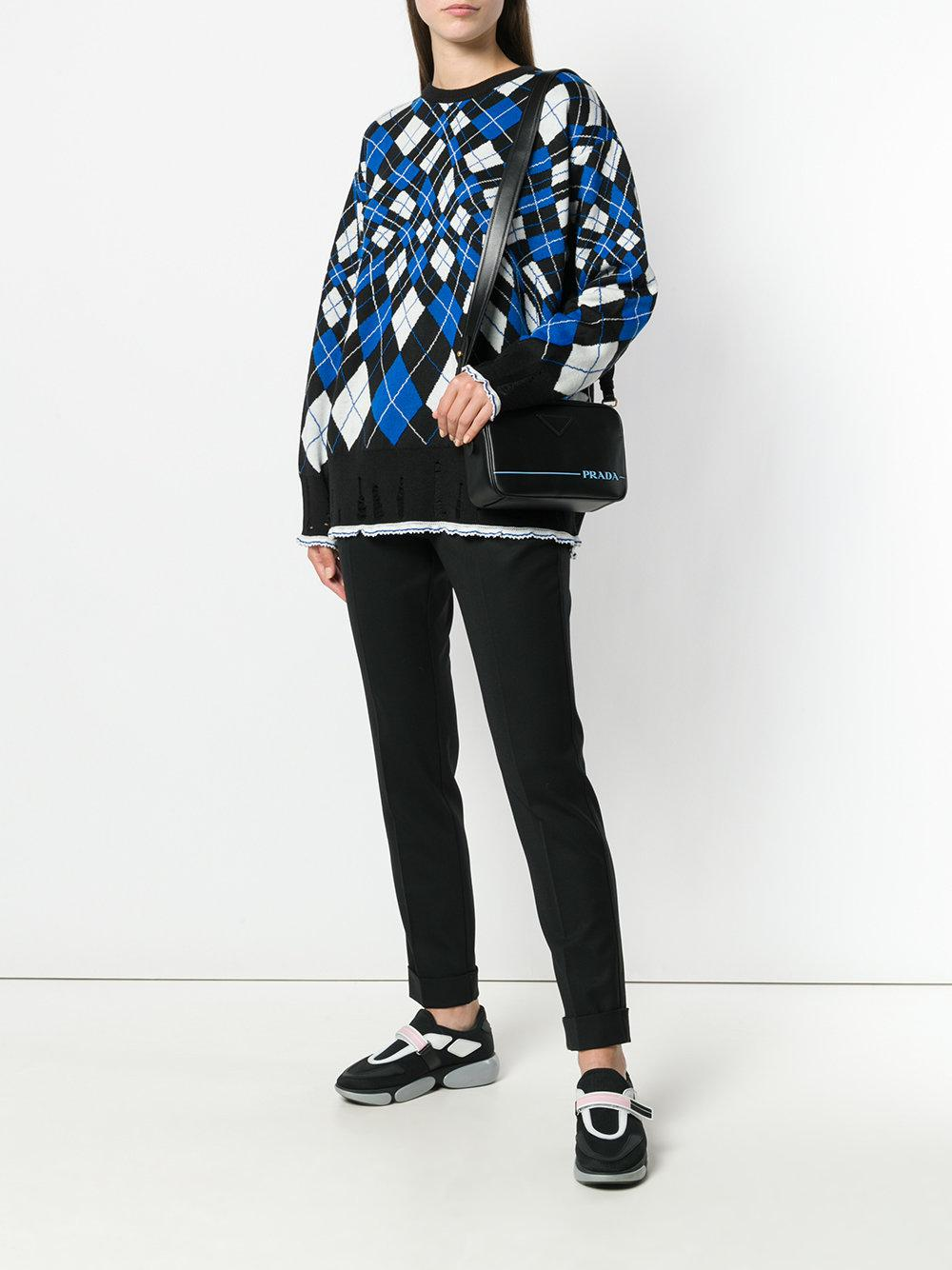 0f868130dbe7b8 Prada Mirage Leather Shoulder Bag in Black - Lyst