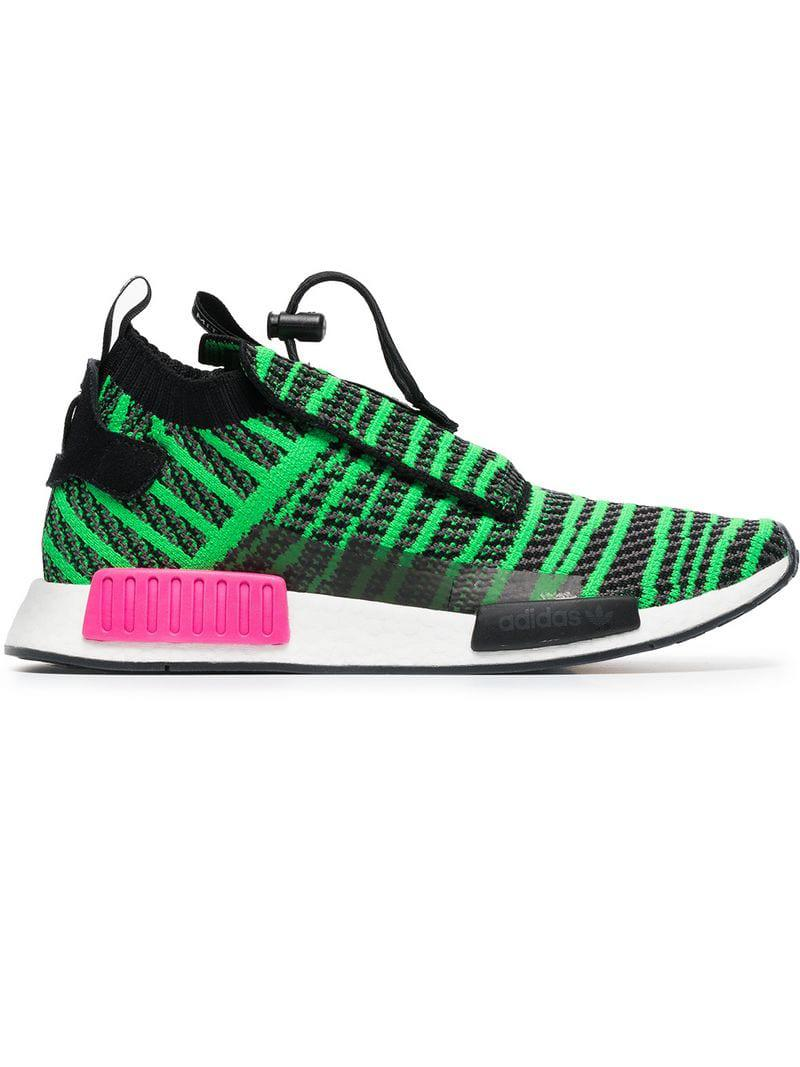 12fc2aa2d89eb8 adidas Nmd Ts1 Primeknit Sneakers in Green for Men - Lyst