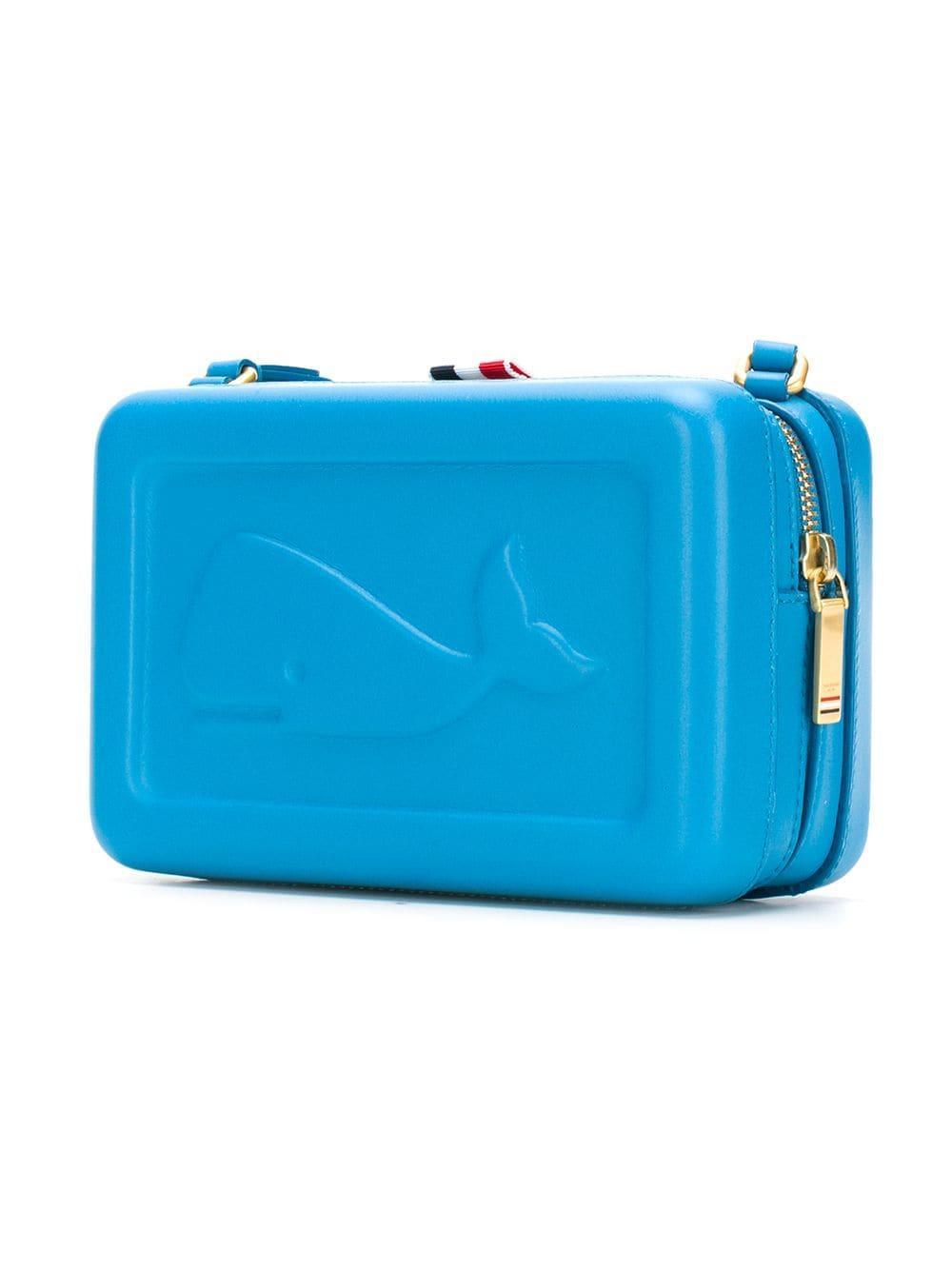 f2a6106178e Thom Browne - Blue Whale-embossed Box Bag - Lyst. View fullscreen