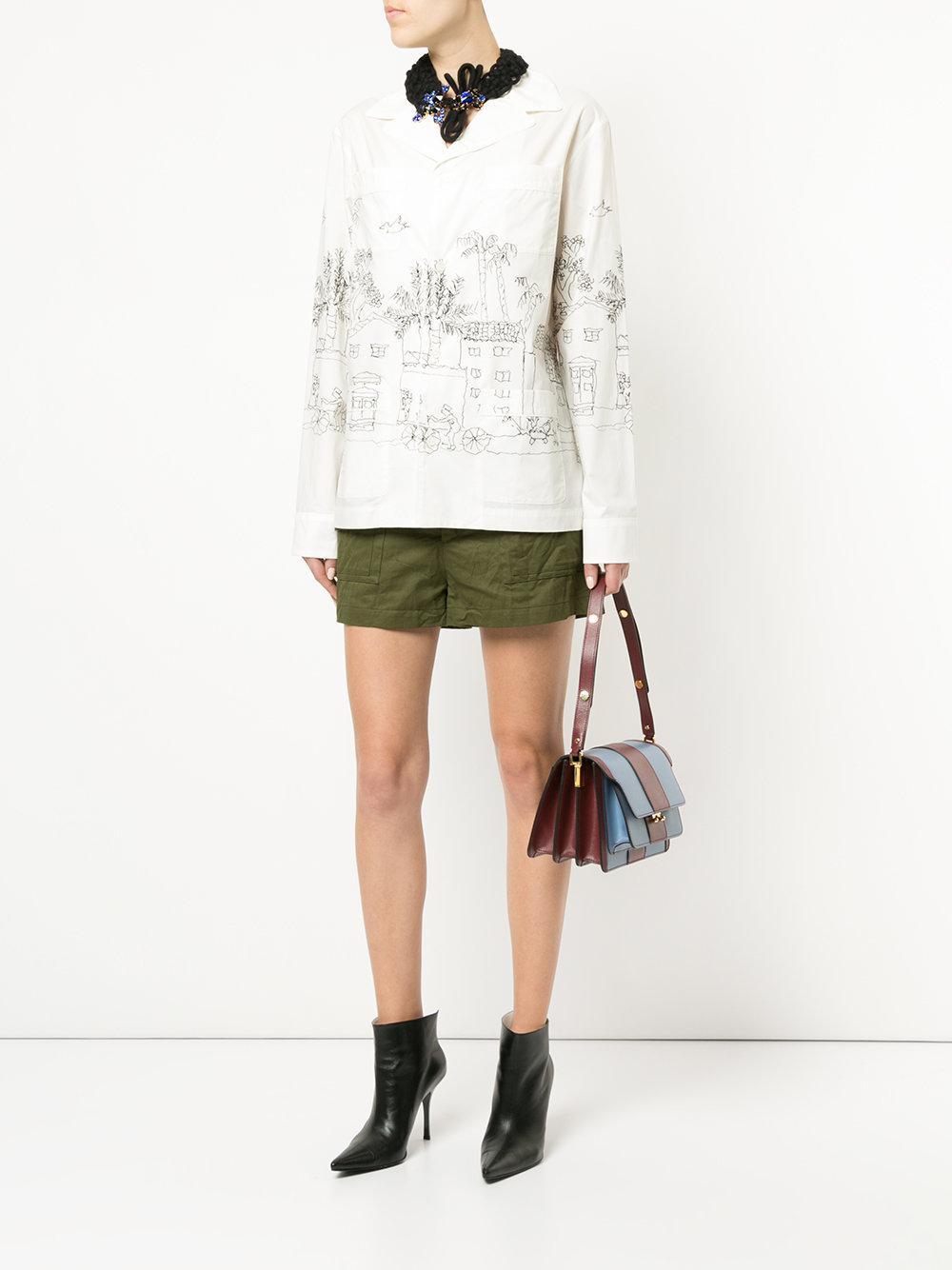 0917a1c9ce Marni - White Illustrated Pyjama Shirt - Lyst. View fullscreen