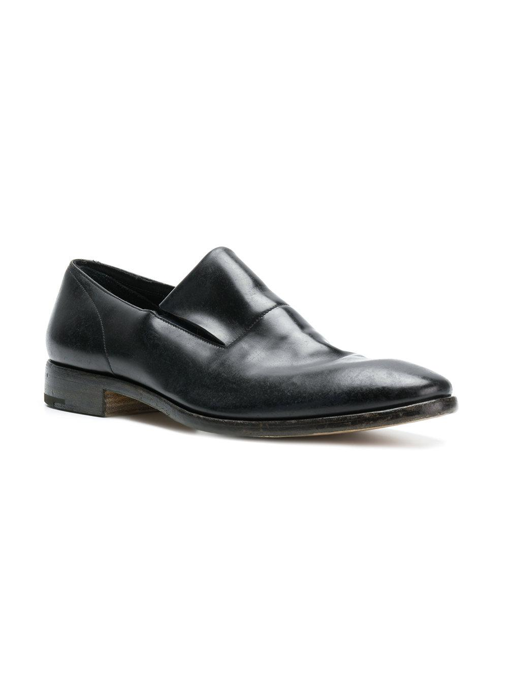varnished slip-on loafers - Black Premiata
