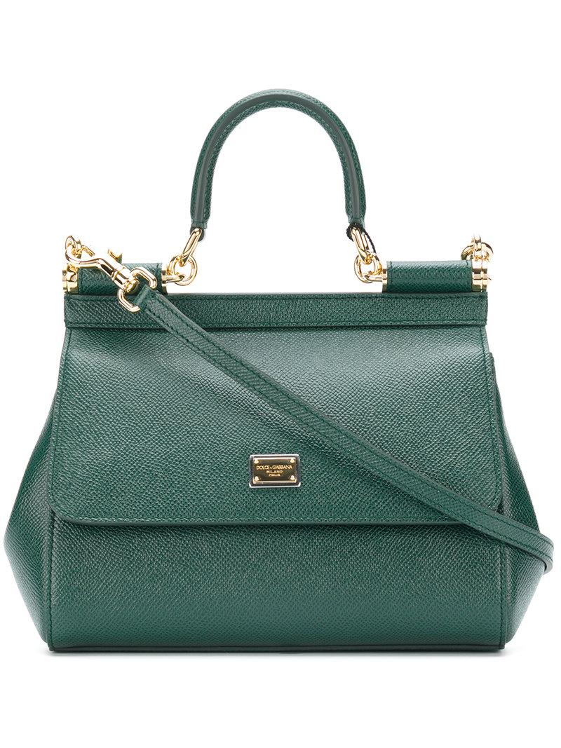29fd3c8e55b9 Lyst - Dolce   Gabbana Small Sicily Bag in Green