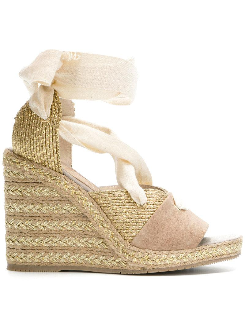 Paloma Barceló wraparound laced wedge sandals sale high quality for sale sale online DtsnO15
