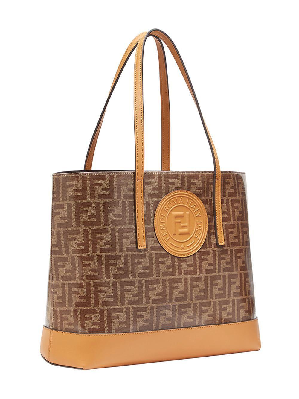 a067ed15a2ac Fendi Shopping Logo in Brown - Save 30.133024869866972% - Lyst