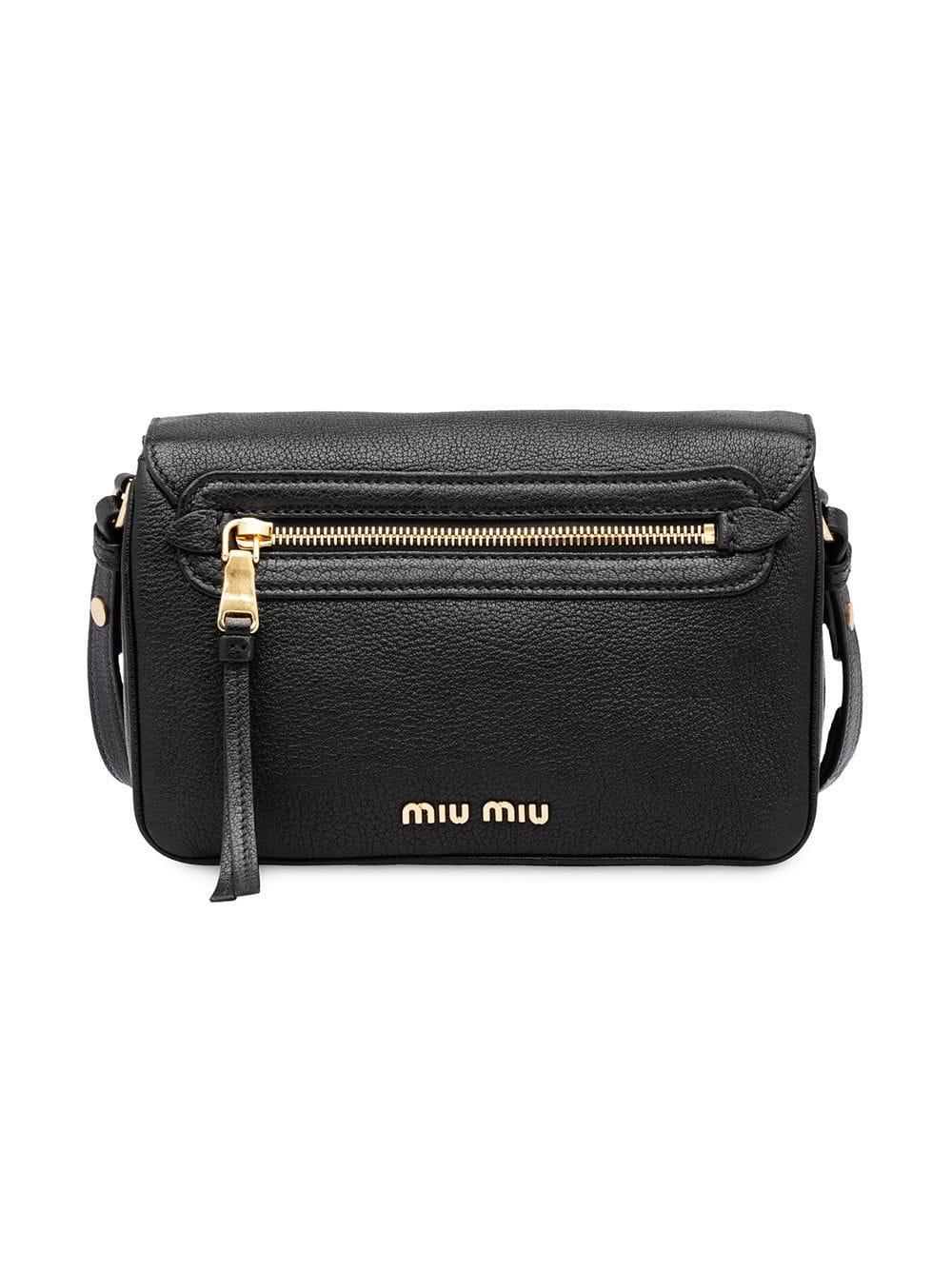 Miu Miu Foldover Top Shoulder Bag in Black - Save 54% - Lyst 3606ca48ae781
