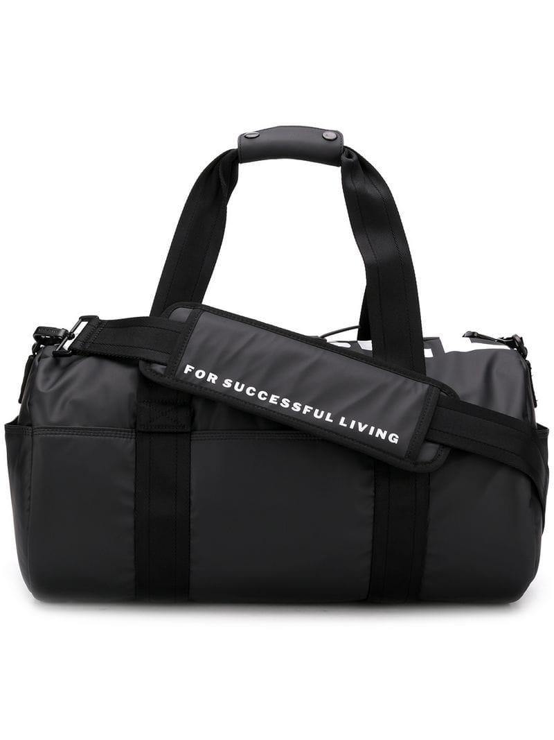 d648fe992c0a DIESEL - Black Logo Print Holdall for Men - Lyst. View fullscreen