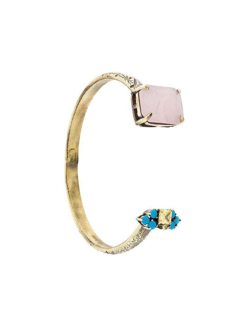 Iosselliani Elegua rose quartz fringed bracelet - Metallic cxWR6hbt