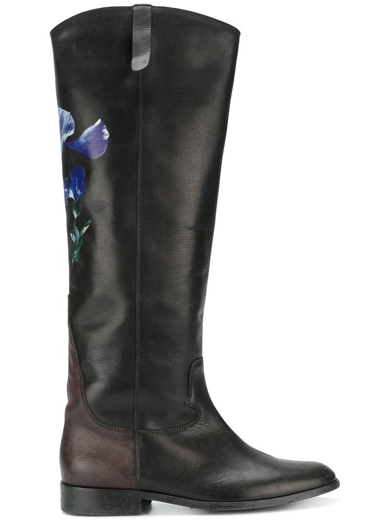 Golden Goose Deluxe Brand floral knee-length boots buy cheap new arrival cheap sale 2015 new xHkHtSntK