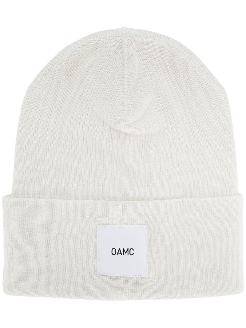 branded beanie - Brown OAMC