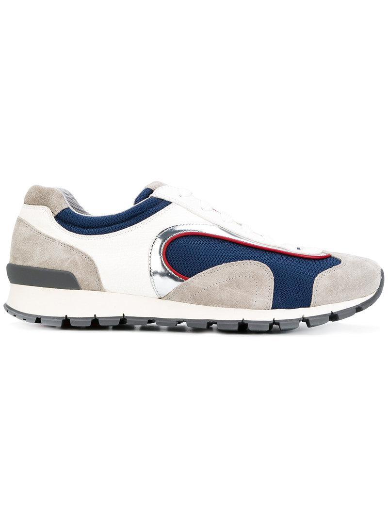 panelled runner sneakers - Blue Prada qX6BvCF4Qk