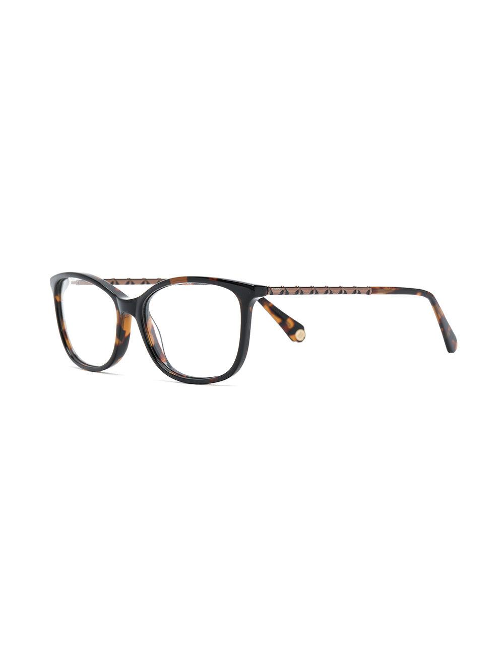 e496bbe564132 Balmain Tortoiseshell Effect Eye Glasses in Brown - Lyst