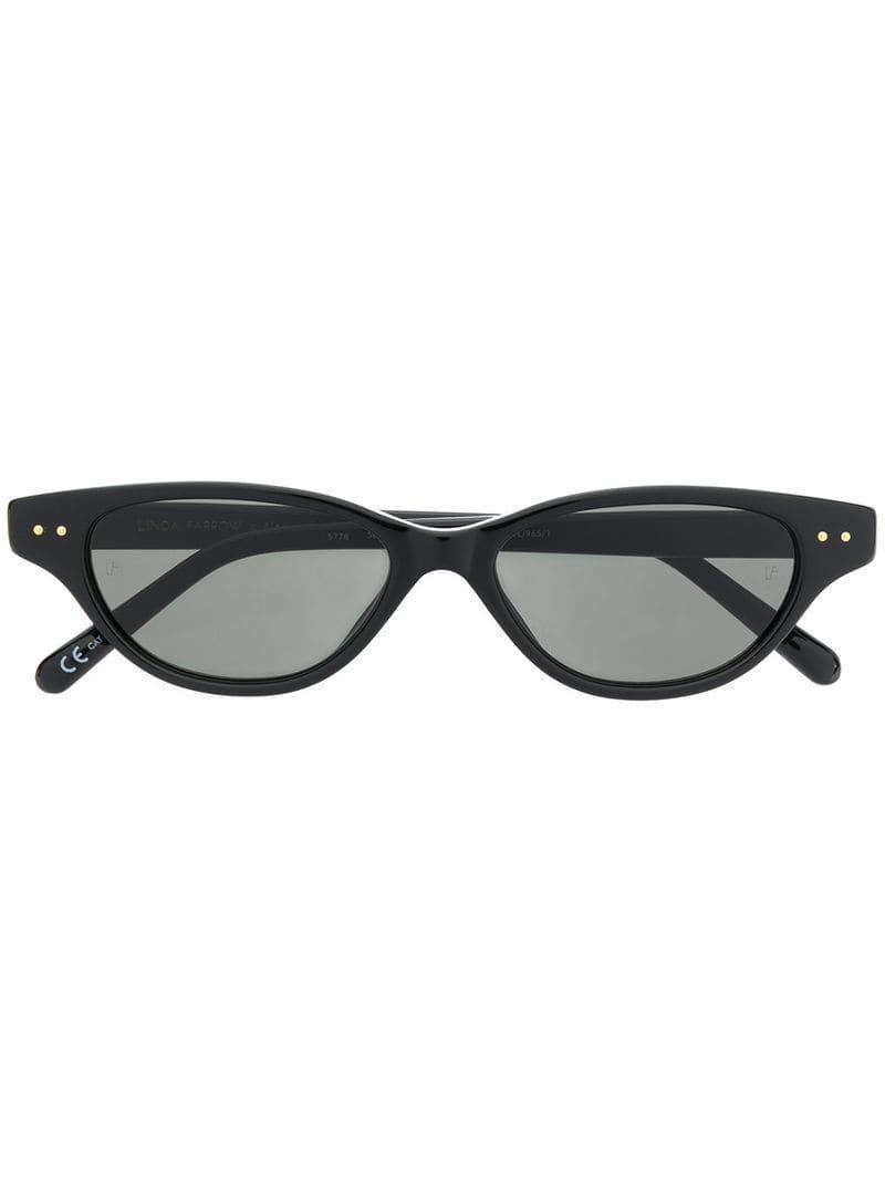 436d12ba3c8 Linda Farrow X Alessandra Ambrosio Sunglasses in Black - Lyst