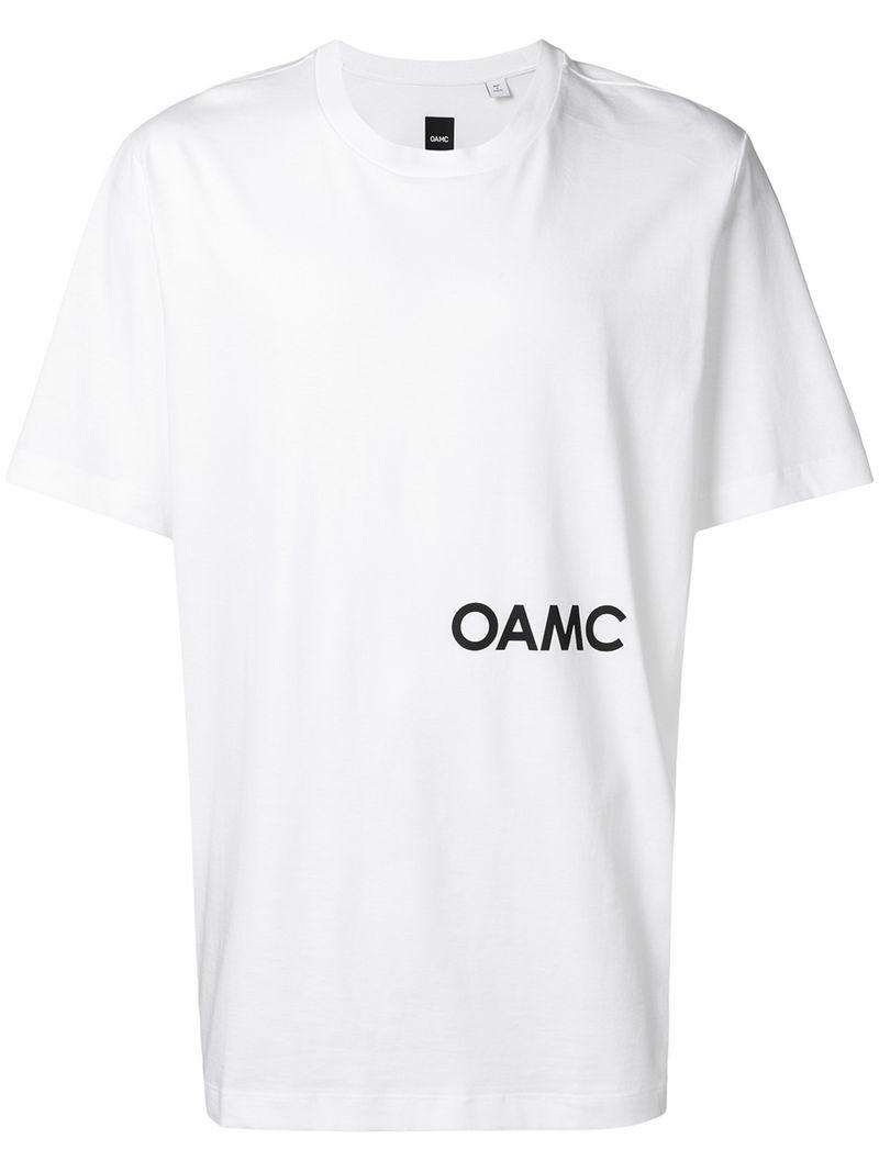 648f41124aa29 OAMC - White Logo Print T-shirt for Men - Lyst. View fullscreen