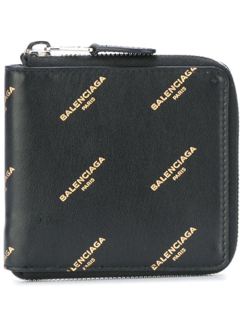 320e556440 Balenciaga Portafogli 'all Over Square' in Black for Men - Lyst