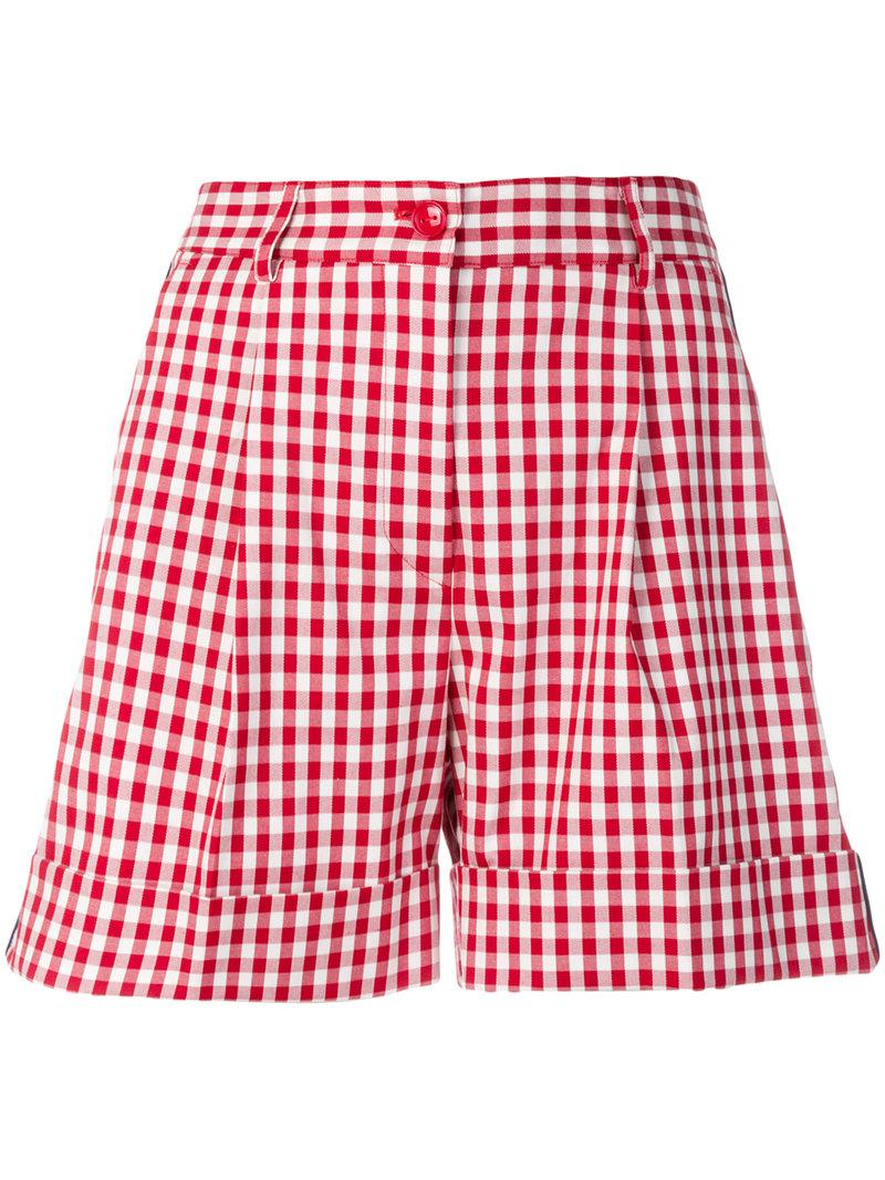 Clearance Amazing Price gingham print shorts - Blue P.A.R.O.S.H. Real Cheap Sale Cheap From China Online Authentic dKb5nM