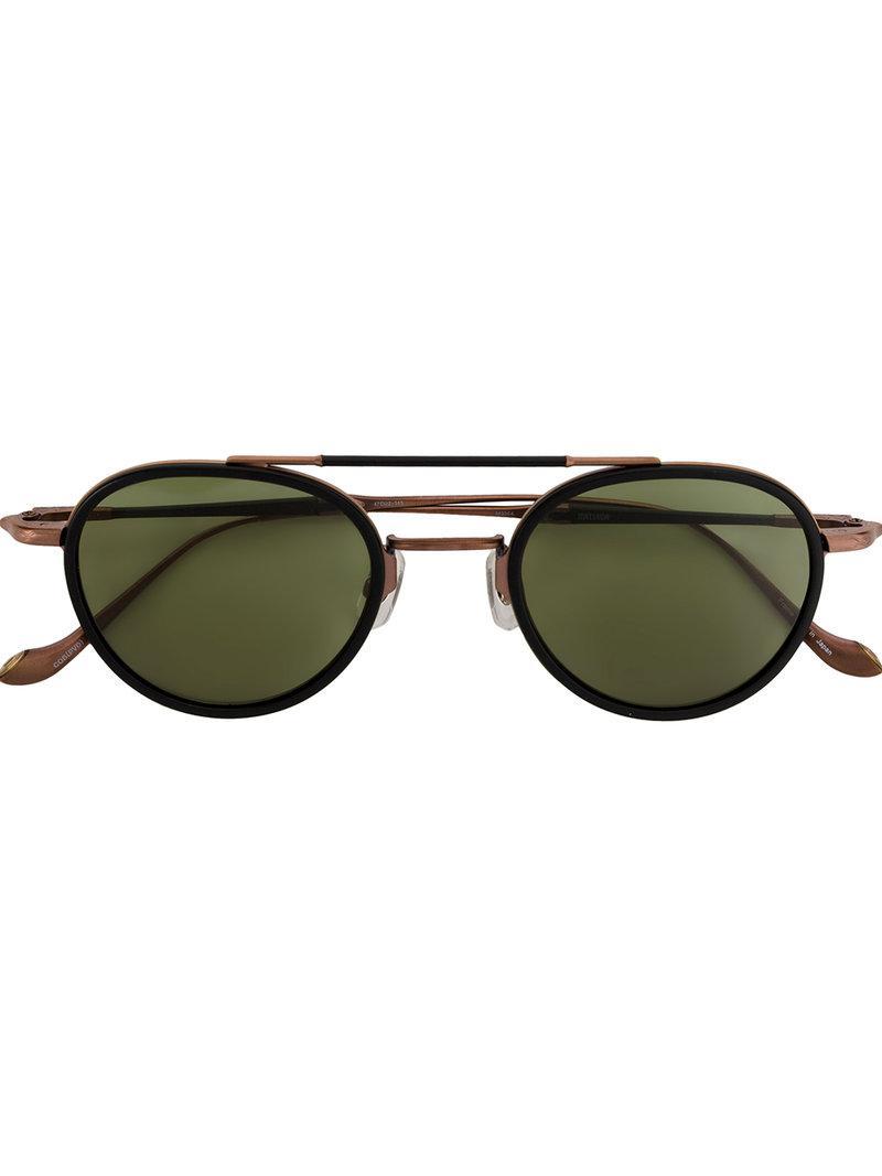 b4dbe82d17c Matsuda Round Framed Sunglasses in Black - Lyst