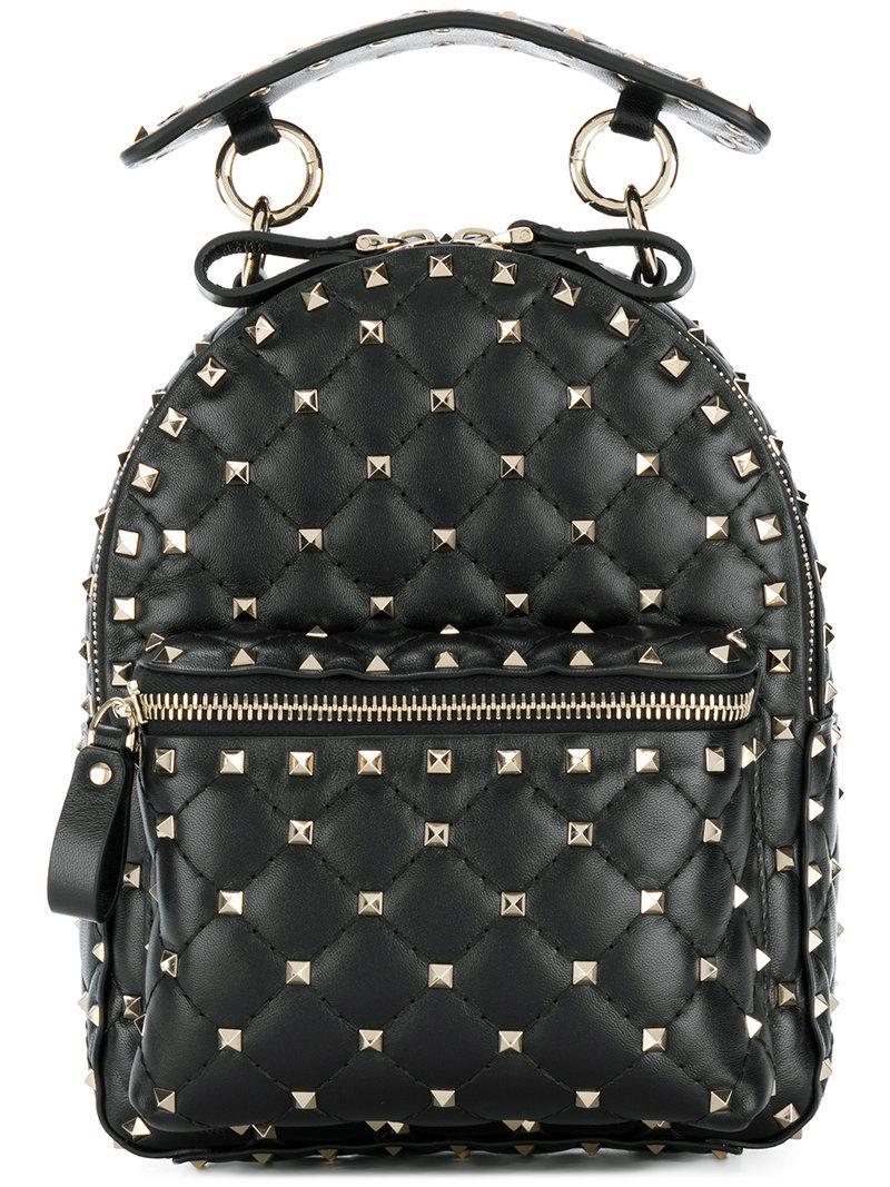 fd76b699f5 Valentino Garavani Rockstud Spike Mini Backpack in Black - Save 9 ...