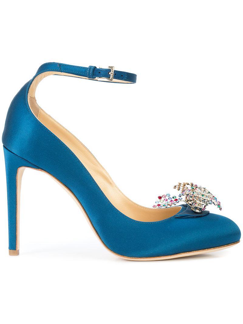 Helix embellished pumps - Blue Chloe Gosselin X2rNAhIG