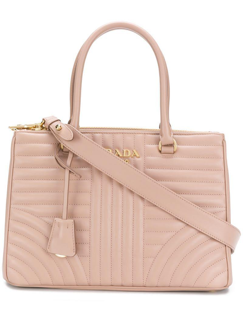 37f2644ff332 Lyst - Prada Quilted Tote - Save 15%