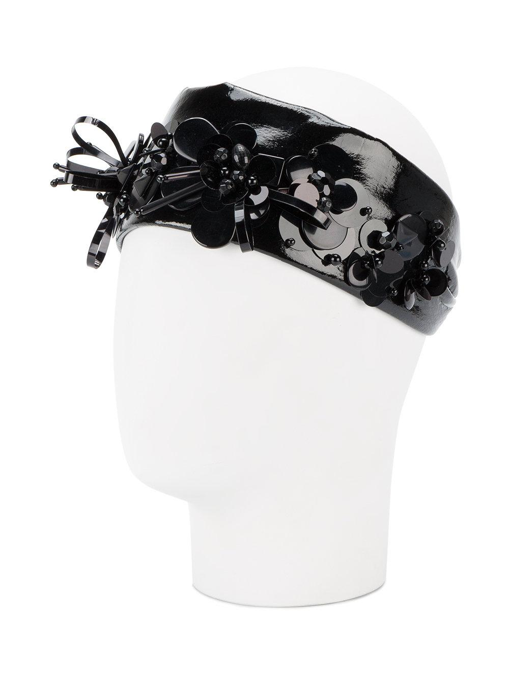 Miu Miu Faux-leather Headband in Black - Lyst 24a3732b90b9e