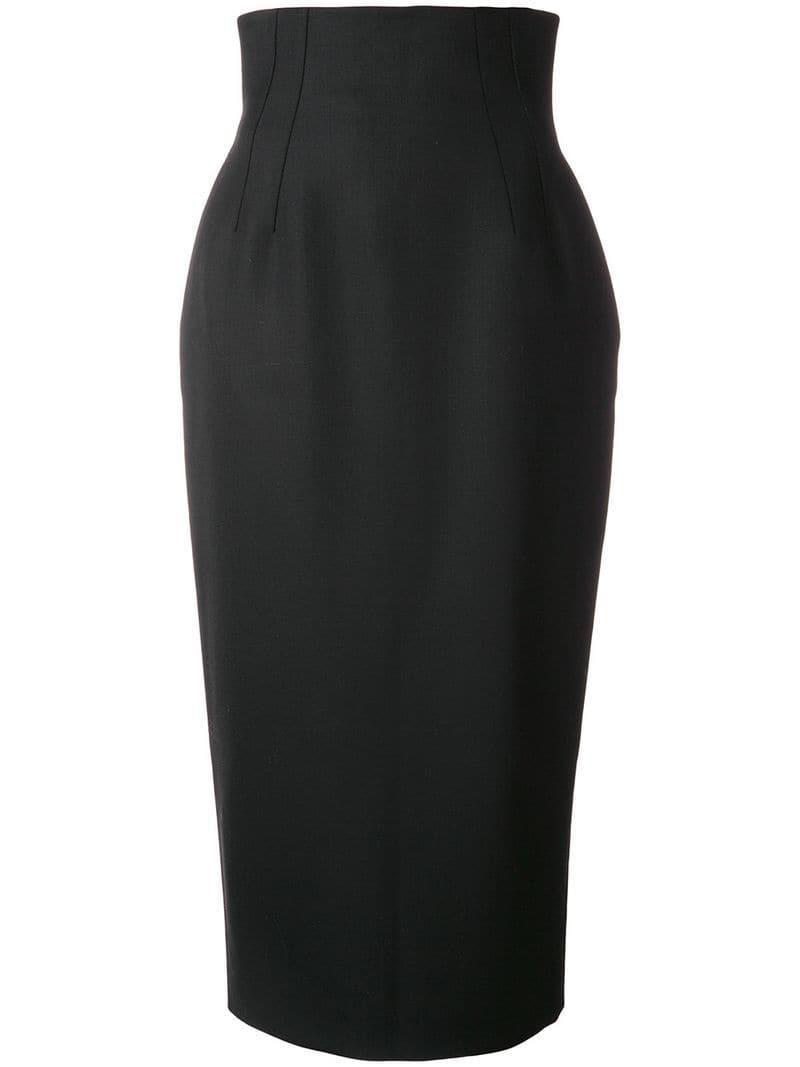 b731cb226 Sara Battaglia Corset Pencil Skirt in Black - Lyst