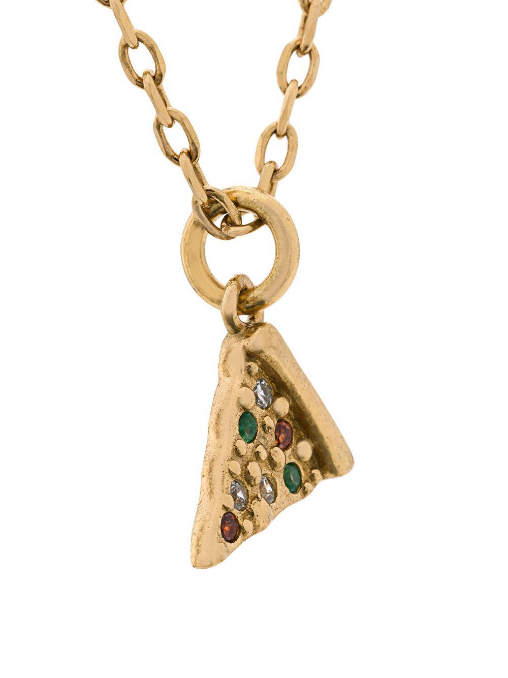 Marc Jacobs crystal pizza necklace - Metallic 8YwDbMO7rJ
