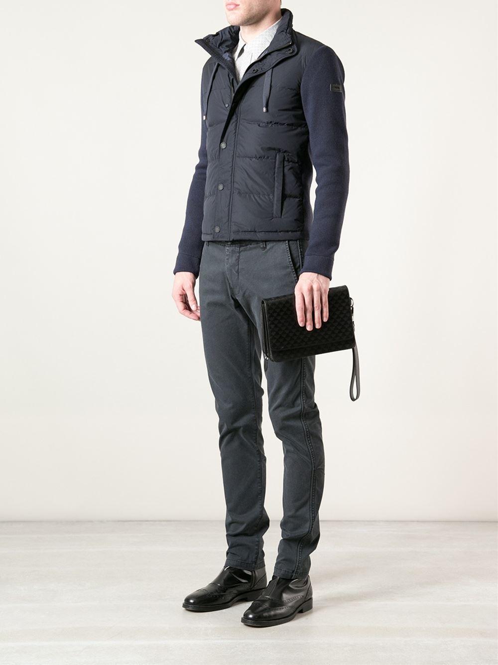 Lyst Emporio Armani Clutch Bag In Black For Men