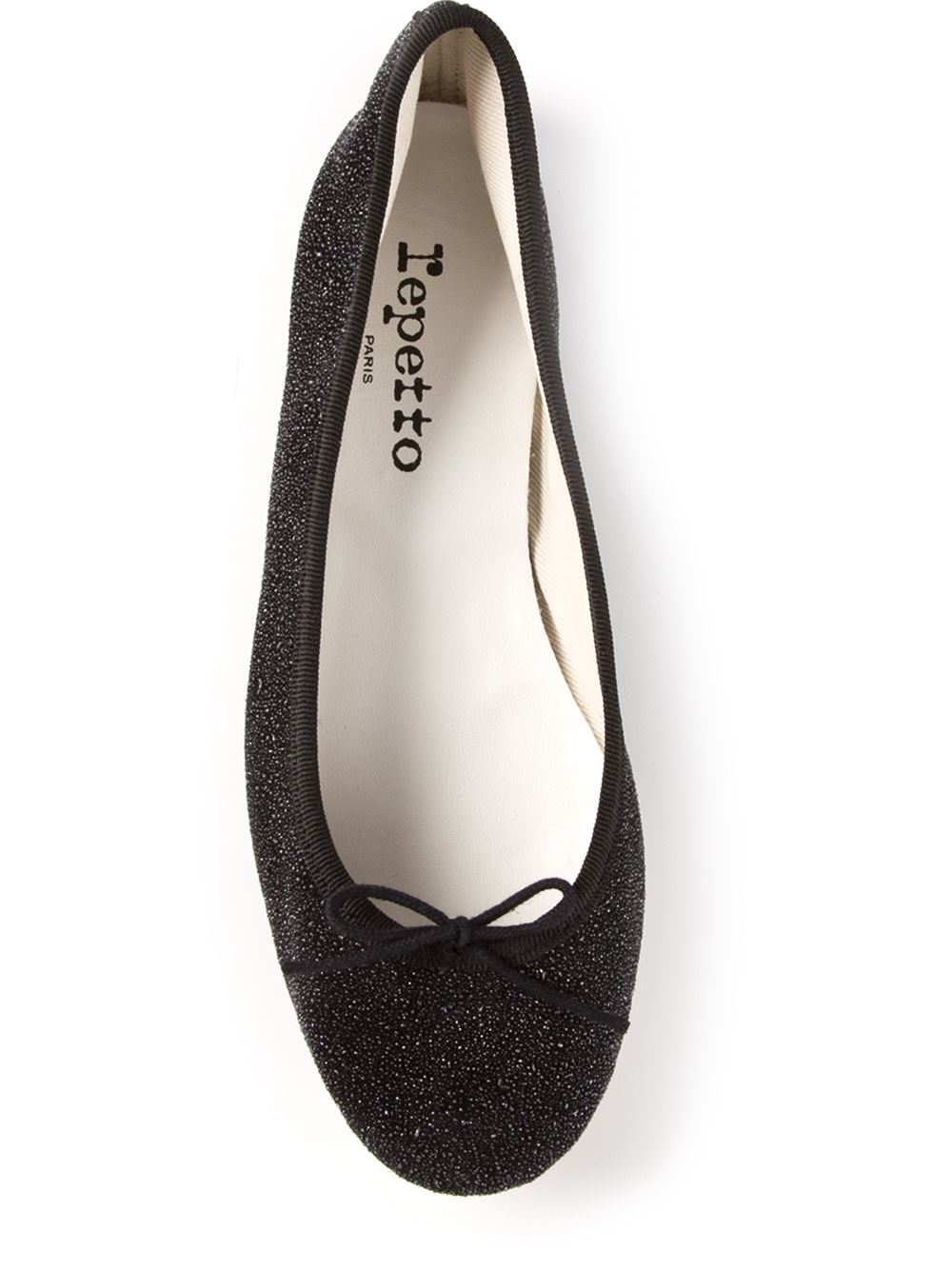 Great Womens Repetto Bow Detail Glitter Ballerina New Arrivals