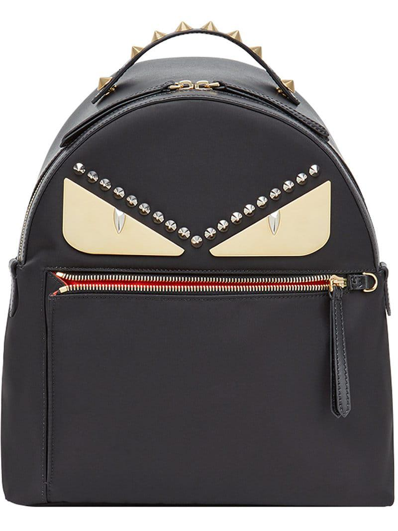 edc48de0164e Fendi Bag Bugs Backpack in Black - Lyst